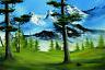 Bob Ross Mountain Glory Art Print Painting Mural Poster 36x54 inch