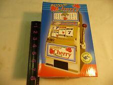 Bonus Cherry Slot Machine Savings Bank---New In The Box