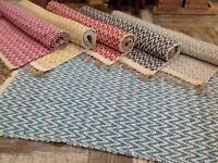 Soft Cotton Jute Thick Herringbone Rug Various Sizes and Colours