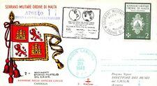 APOLLO 11 SOVEREIGN ORDER OF MALTA  FLAG CACHET & STAMP - JULY 20, 1969