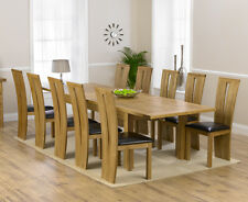 Trend oak furniture extra large extending dining table and 10 Arizona chairs