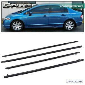 Front 2PC Door Rubber Weatherstrip On Car Body For Honda Civic Sedan 2006-2011