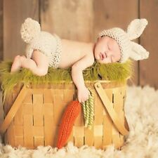 Baby Photography Props Baby Girls Boys Handmade Crochet Knitted Hat Pants 2pcs
