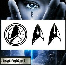 STAR TREK DISCOVERY LOGO 3X  6cm black Vinyl Sticker Decal for Phone or Laptop