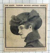 1915 Ladies Show Off Their Ears With Latest Fashion Hats Creation Paquin