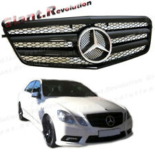 Shiny Black Sporty Front Grille Hood For 2010-2013 M-Benz W212 Sedan E350 E500