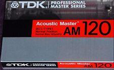 TDK AM 120 ACOUSTIC MASTER SEALED BLANK AUDIO CASSETTE TAPE AM120 (1)