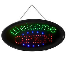 "Bright Led Neon Business Sign Animated "" Welcome Open "" Shop Restaurant Light"