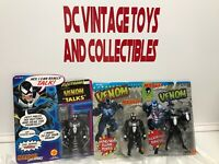 1991 Marvel Super Heroes Electronic Talking TOY BIZ VENOM Mixed Lot Of 3