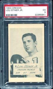 1953 University of Oregon Lou Stiner Jr PSA 5 Oregon Ducks
