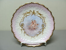 BEAUTIFUL ANTIQUE LIMOGES FRANCE PORCELAIN CABINET PLATE, GILDED w/ CHERUBS #8