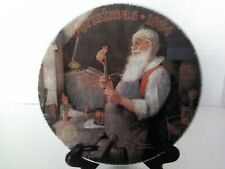 Knowles Rockwell 1984 Christmas Collectors Plate Mint Condition