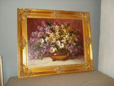 RUDOLF COLAO Still Life Flowers Oil Painting on Board Signed Original