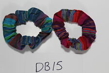 2x Hand Made Colorful Scrunchy HairTie Accessory NEW DB14 Guatemalan Scunchies