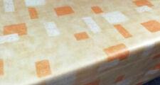 Tablecloth by the Metre Oilcloth Food Grade Washable, Joy Mandarine Orange