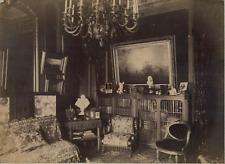 France, Paris, à la Société de Géographie, bureau de Mr Jackson Vintage albumen