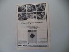 advertising Pubblicità 1966 LAVATRICE NAONIS SPECIAL 45