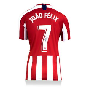 JOAO FELIX ATLETICO MADRID AUTOGRAPHED/SIGNED 2019-20 JERSEY ICONS AUTHENTIC