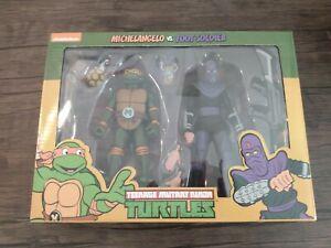 NECA TMNT Michelangelo & Foot SoldierTeenage Mutant Ninja Turtles Target 2 Pack