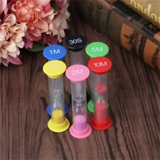 6Pcs colorful Sand Timer Minutes sandglass hourglass Timer Clock Decor Gift NEW