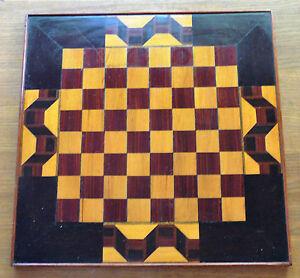 Genuine Art Deco Chess/checkers board   40mm squares