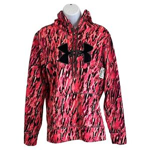 Under Armour Women's Pink Camo Athletic Workout Sporty Hoodie