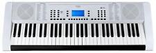 Clavier Piano Numerique Electrique Synthetiseur Pro 61 Touches 128 Sons Blanc