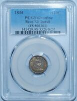 1844 PCGS XF Details FS-301 Repunched Date Liberty Seated Half Dime
