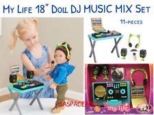 "18"" Doll DJ Music Mixer Set for My Life as American Girl Boy Musician Rapper"