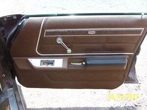 1977 MERCURY MARQUIS 4 door RIGHT FRONT DOOR TRIM PANEL OEM USED