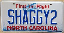 NC vanity Scooby Doo SHAGGY 2 license plate Norville Rogers Reggae Zoinks Velma