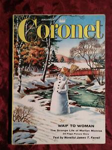CORONET January 1957 MARILYN MONROE JOYCE CARY LEONARD BERNSTEIN OHIO SPAIN