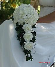 Excl. Brautstrauss aus vanille-cremefarbenen Rosen, Hochzeit, Braut