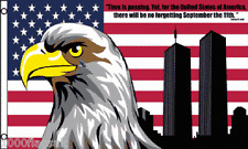 No Forgetting 911 9/11 Twin Towers USA United States of America 5'x3' Flag !