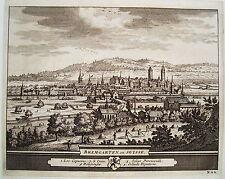 Bremgarten Kanton Aargau Schweiz seltener  Kupferstich P. van der Aa 1714