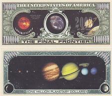 10 Solar System Planetary Dollars Final Frontier Bills