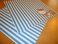 Sanrio Hello Kitty 2 sheets Paper Stationary Craft Scrapbooking clown teddy