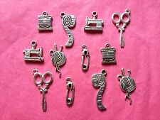 Tibetan Silver Mixed Sewing/Crafting Mixed Charms 12 per pack