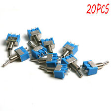 20 Pc SMTS-102 3-Pin SPDT ON-ON Toggle Switch 6A 125V