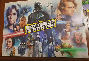 STARWARS DAY MAY THE 4TH BE WITH YOU PROMOTIONAL TARGET POSTER! 42CM LONG 30CM W