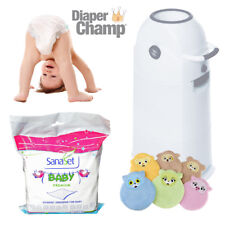 Diaper Champ medium Vorteils-Set geruchsdichter Windeleimer Windelbox