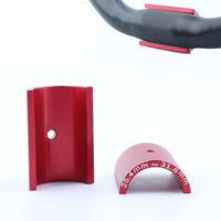 1 Pair Bicycle Bike Handlebar Bar Shim Spacer Stem Reducer 25.4mm To 31.8mm Red