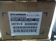 NEW Sylvania Dulux D/E Compact Fluorescent Light Bulbs 13 Watt CF13DD/E/830/ECO