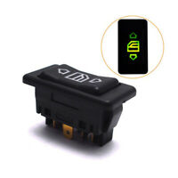 Universal Car Electric Power Window Switch Button With Green Light 6 Pin 12/24V