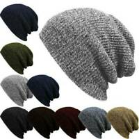 Women Men Unisex Knit Baggy Beanie Winter Hat Ski Slouchy Chic Knitted Cap Skull