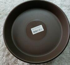 Plastic Saucer Drip Tray Flower Pot Planter Indoor Outdoor 5 Pk.Brown.Chungun.