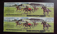 RARE Vintage 1968 Irish Hospitals Sweepstake on Sweeps 12 Ticket Booklet Racing