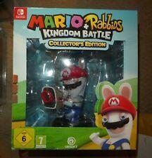 Nintendo Switch Mario Rabbids Coleccionistas Box Set Reino batalla Ltd Ed figura