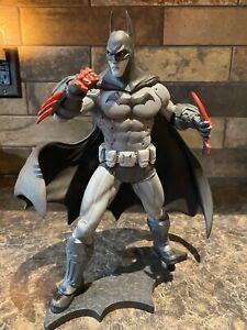 Batman Arkham City Batman Statue - Black, White, and Red