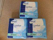 3 x 28 Sealed Packs Tena Comfort Mini Super - Unisex 1 size Incontinence Pads